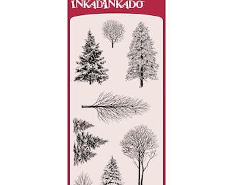 """Inkadinkado Clear Stamps - Christmas Woodland Wonderland 4""""X8"""""""