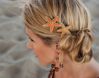 Sugar Starfish Hair Clip Set