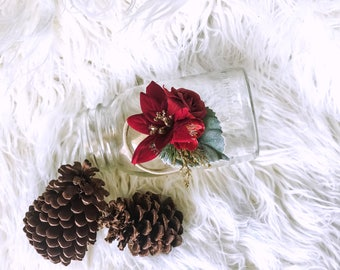 Poinsettia Flower Crown. Holiday Crown. Holiday Headband. christmas crown