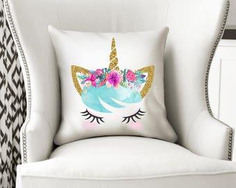 Unicorn Cushion, Unicorn Pillow, Girl Gift, Unicorn Gift, Unicorn Decor, Unicorn Nursery, Unicorn Bedroom, Cushion, Decorative Pillow, PLA