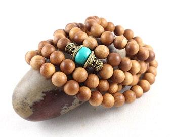 Sandalwood Bracelet, Sandalwood Mala, Sandalwood Stretch Bracelet, Yoga Jewelry, Sandalwood Beads, Yoga, Mala Beads, Mala Beads Women, Yoga