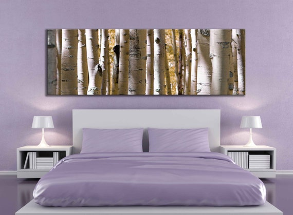 Panoramic large 12 x 36 or 20 x 60 inch canvas print aspen