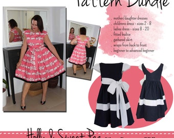 Pattern Bundle - Sweet Pea and Holly Wrap Dresses!