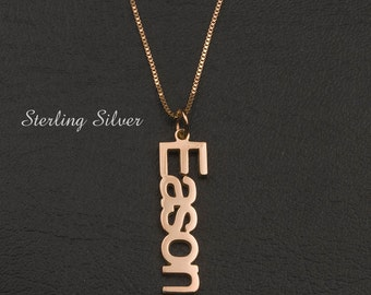Rose Gold Name Necklace Personalized Name Chain Font Necklace Custom Name Jewelry My Name Necklace Birthday Gifts - Material Sterling Silver