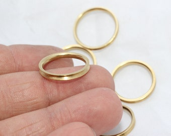 10 Pcs ( No 8 ) Raw Brass Ring Setting , Channel Ring Settings, Ring Base , LA28