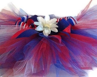 Patriotic Tutu-Red, White And Blue-Fourth of July Tutu-Parade Tutu-Birthday-Independence Day-Summer Fun