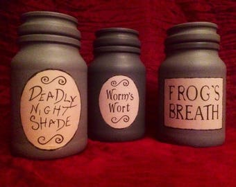 Nightmare Before Christmas Potion Bottle inspired jars