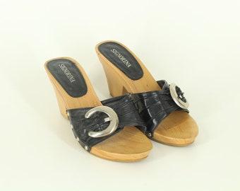 Vintage • Flip Flops • Women's • Summer Sandals • Women's Flip Flops • Wooden Sandals • Moccassins • Hipster • Boho • US 8 • UK 6 • EU 38