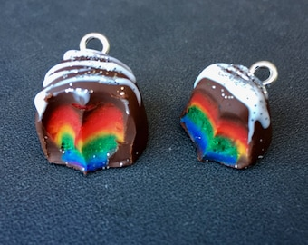 The Rainbow Within: Individual Rainbow Truffle Stitch Markers for Knitters and Crocheters