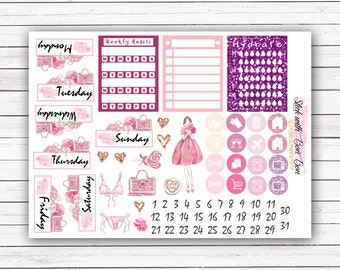 Be My Valentine's Valentine's Day add-on stickers || Erin Condren planner vertical layout