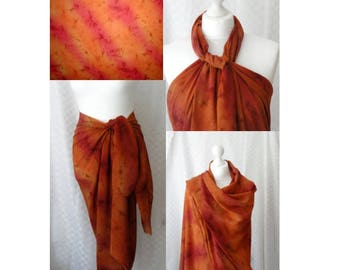 Tie dye Sarong, Large Print sarong, Beach cover up, Oversized scarf, Shawl, Beach wrap, Fashion accessories