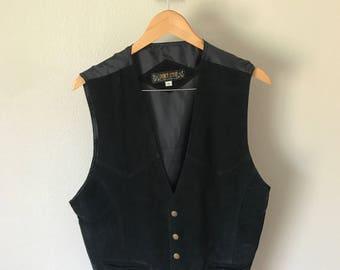 Black Suede Vest