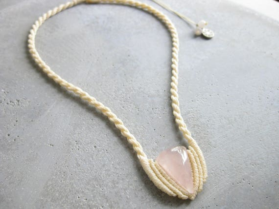 Dryade . Rose Quartz Fiber Necklace . © Design by .. raïz ..
