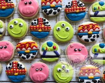 2 Dozen Mini Toy Story Themed Decorated Cookies Set