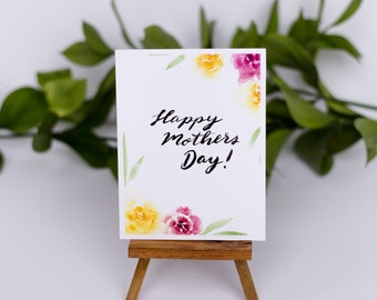 Happy Mother's Day Floral Border Greeting Card