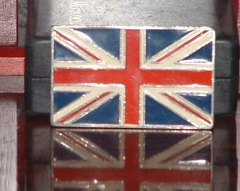 Pre-Owned Retro British Flag Belt Buckle