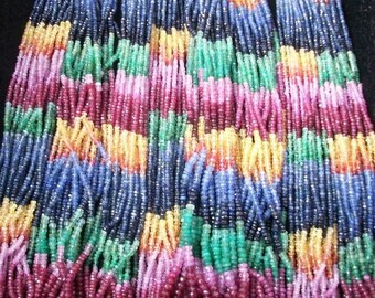 16 inch 3.5mm MULTI SAPPHIRE Beads Faceted Rondelle shaded beads,  AAA Quality Multi Sapphire Rondelle beads faceted gemstone...