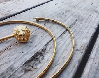 Gold Lion Belt