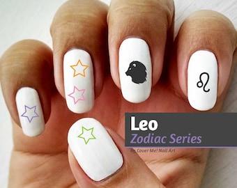 Leo Zodiac - Water Slide Nail Decals