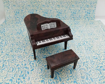 Ideal Toys Grand Piano and Bench Beautiful  Doll House Toy Vintage