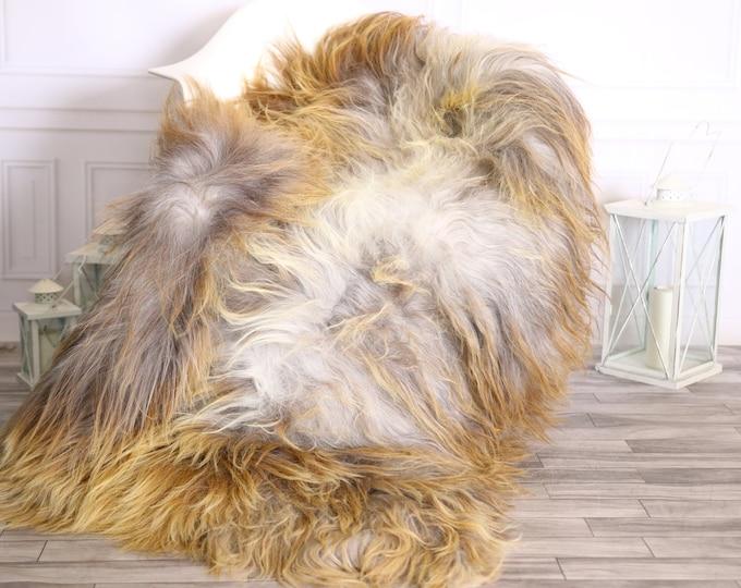 Icelandic Sheepskin | Real Sheepskin Rug |  Super Large Sheepskin Rug Blonde Gray | Fur Rug | Homedecor #MIHISL9