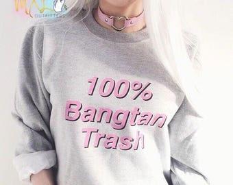 BTS 100% Bangtan Trash crewneck sweatshirt