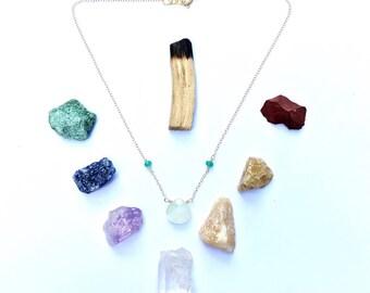 Serpentine & Jade Necklace