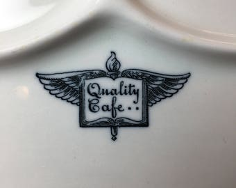 Quality Cafe 10 1/4 inch Restaurant Ware Grill Plate by Shenango China Circa 1920s-early 1950s