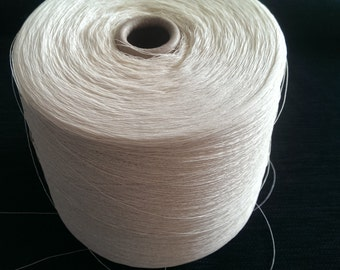 1 spool 1,2 kg paper yarn thread nature Nm 50/2 on paper cone 360 den