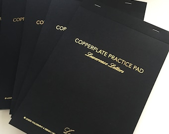 Copperplate Practice Pad - Lowercase Letters