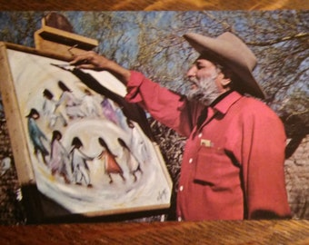 Ted DeGrazia Postcard - Los Ninos Unicef Gallery In The Sun Vintage 1970s Tucson