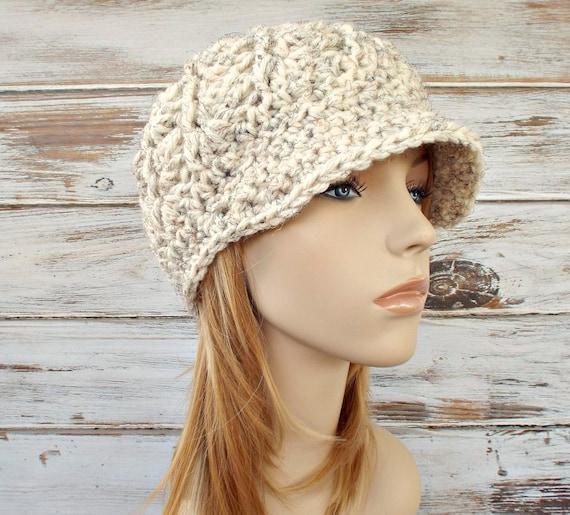 Crochet Hat Womens Hat Wheat Cream Newsboy Hat - Pippa Swirl Crochet Newsboy Hat Wheat Cream Crochet Hat - Cream Hat Womens Accessories
