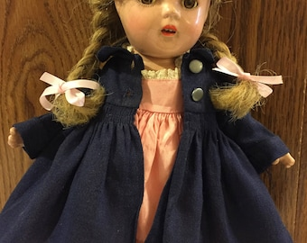 "Vintage Madame Alexander McGuffey Ana/ all original/ 13"" tall"