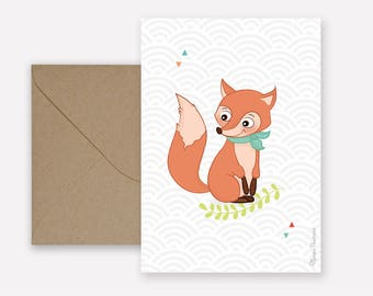 Map little Fox - kraft envelope