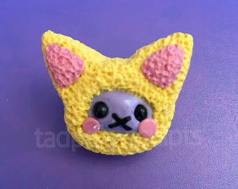 Yellow Kitty Brooch
