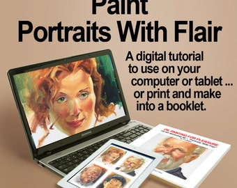 How to paint PORTRAITS WITH FLAIR! A Digital Art Instruction Tutorial for Beginners and All Skill Levels.