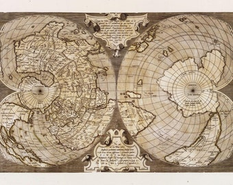 Archival map print, old map, historical maps, home decor,  #98
