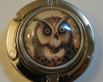 Owl Chic Handbag  Purse Holder V4