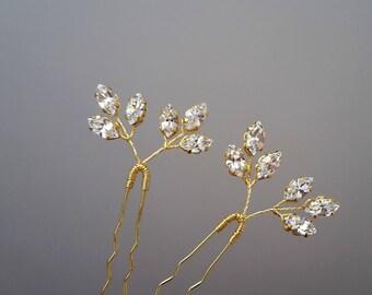 Wedding hair pins Crystal Bridal hair pins Wedding bobby pins Set of hair pins Crystal Hair pins Bridal bobby pins Bridal headpiece