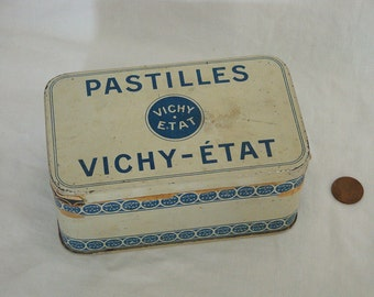 Vintage French Pastilles Vichy-Etat Tin Box