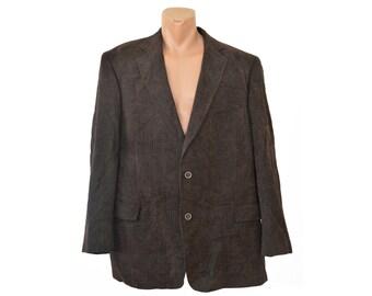 Men Wool Blazer Sport coat Mens Vintage Formal blazer Suit blazer Gents jacket Made in Italy Virgin Wool Silk pmDncibeE8