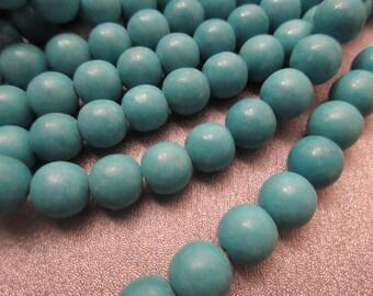 Magnesite Turquoise Round 10mm Beads 40pcs