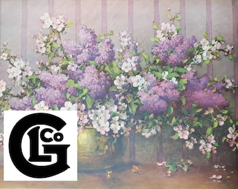 "GP5767 ""Lilacs And Apple Blossoms"" by Carle J Blenner"