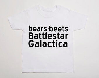 Bears, Beets, Battlestar Galactica (The Office) Child/Youth T-Shirt - MULTIPLE COLORS