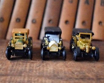 Miniature Classic Car Collection Lot of 3 Small Vintage Cars