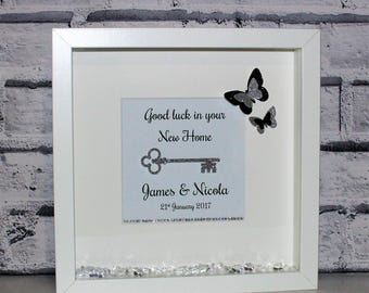Housewarming Gift, New Home Gift, First Home Gift, New House Gift, Wall Art, Personalised Frame, Personalised Frame, Gift, Shadow Box Frame