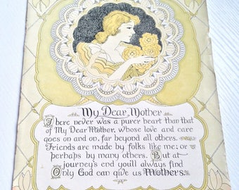Sweet Vintage Mother's Day Saying From 1940