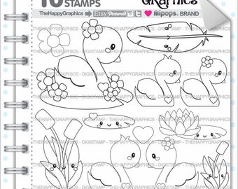Swan Stamps 80OFF Commercial Use Digi Stamp Digital Image Planning Digistamp Coloring Page Cliparts Animal