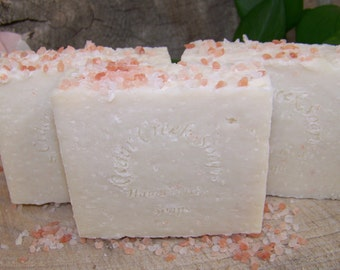 Pink Himalayan Soap ~ Exfoliating Cold Processed Soap ~ All Natural and Vegan Soap