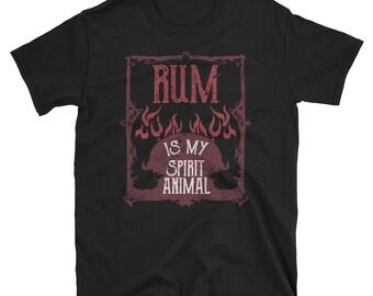 Funny Rum Drinking Shirt Rum My Spirit Animal Shirt Rum Lover Shirt